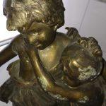 Statue régule signé Auguste Moreau avec sceau fondeur